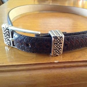 Brighton brown woven leather belt size L/34